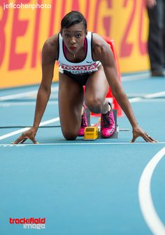 Murielle Ahoure, Ivory Coast. 200 meters, 2013 World Championships, Moscow, Russia.