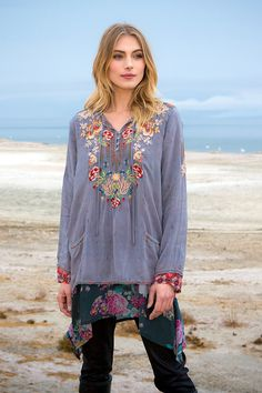 Johnny Was Collection Fall 2015 Lookbook featuring the CARNATION BLOUSE