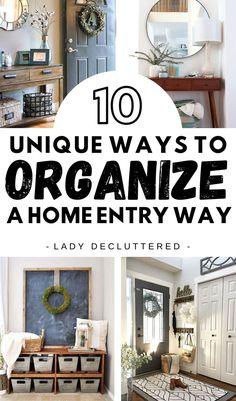 You can have the home entryway of your dreams. Whether you are starting from scratch or sprucing up what you have, take some time think about what your home entryway really needs and go get it! From thin hall entryway tables to farmhouse coat hooks, there are dozens of clever space saving storage DIY ideas for your home entryway. #ladydecuttered #homeentryway #storageideas #entryDIY #dropzone #howtoorganizethefrontentry #storagesolutions #organizingideasforthefrontentryway Entryway Storage, Diy Storage, Entryway Decor, Entryway Tables, Smart Storage, Storage Ideas, Kids Room Organization, Home Organization Hacks, Organizing Ideas