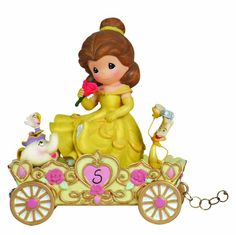 This Precious Moments / Disney Showcase Belle figurine representing age five in the new Birthday Parade is for display in any room in the home, and with it comes the magic of Disney. This Disney Princess represents age five.