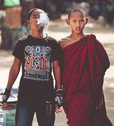 buddhist monk and brother - Google Search - Yin Yang & Acceptance