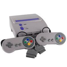 TV Video Game Console for Snes 16 Bit Games 16 Bit Entertainment System with Two #Tomyumi