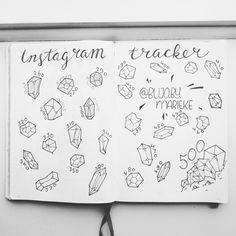 Bullet journal instagram tracker gemstones