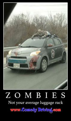 Zombie car, for all our walking dead fans. Cool car for Halloween