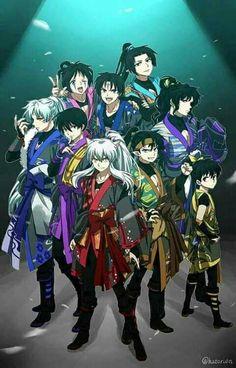 The Boys from InuYasha Inuyasha Memes, Inuyasha Funny, Inuyasha And Sesshomaru, Kagome Higurashi, Kagome And Inuyasha, Miroku, Anime Demon, Manga Anime, Anime Art