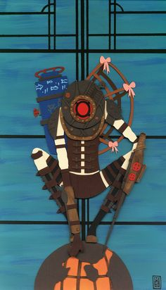 This looks like cut paper, Damn. Big Sister from Bioshock 2