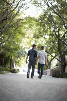 Dominic and Christopher's Engagement Session at Warner Bros Studios in Los Angeles (Yair Haim Photography)