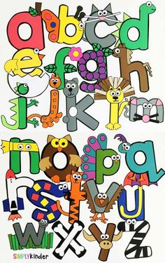 Alphabet Crafts. These are great as you introduce the letters, for review, or even as you countdown the alphabet. http://www.simplykinder.com/alphabet-crafts-printables-notebooks/