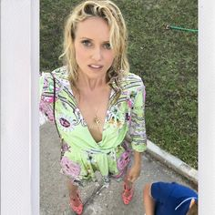 The lovely Justine Mattera in Naughty Dog SS16 Hawai jumpsuit!