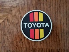 Due to popular demand, we decided to make a Vintage Toyota glow in the dark PVC patch. This patch is wide and comes with hook/loop backing. Toyota 4x4, Toyota Hilux, Toyota Tacoma, Velcro Patches, Pin And Patches, Jacket Patches, Land Cruiser Fj80, Patch Shop, Vintage Patches