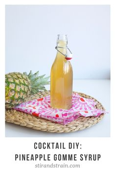 For Mixology Monday, I had thought I was starting out on a simple quest: make a pineapple gomme syrup (this month's theme is PINEAPPLE, hosted by Thiago from Bartending Notes and gomme syrup,… Easy Cocktails, Classic Cocktails, Craft Cocktails, Margarita Cocktail, Cocktail Drinks, Cocktail Recipes, Pineapple Syrup, Cocktail Making, Hot Sauce Bottles