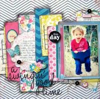 A Swingin' Good Time by Missy Whidden from our Scrapbooking Gallery originally submitted at AM Kids Scrapbook, Scrapbook Supplies, Scrapbook Cards, Scrapbooking Ideas, Scrapbook Frames, Scrapbook Sketches, Scrapbook Page Layouts, Photo Layouts, Crate Paper