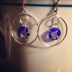 Handmade niobium hoops   by kdottdesigns on Etsy