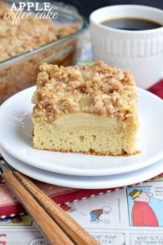 This Caramel Apple Coffee cake recipe is perfect for a weekday breakfast and a cup of hot coffee! Also makes a nice addition to your brunch menu!