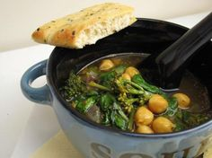 Curried Chickpea And Broccoli Soup