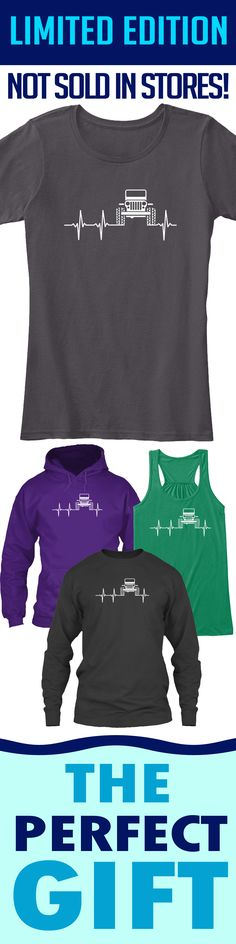 Jeep Heartbeat - Limited edition. Order 2 or more for friends/family & save on shipping! Makes a great gift!