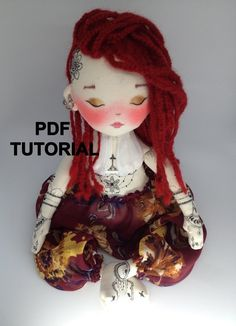 doll face painting Aromatic doll - Henna Tattoo, filled with Bio lavender flowers! PDF Tutorial: Contains the step by step process to develop the body of the doll. Doll Crafts, Diy Doll, Doll Making Tutorials, Doll Painting, Sewing Dolls, Doll Tutorial, Soft Sculpture, Custom Dolls, Fabric Dolls
