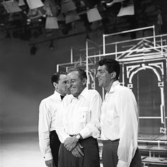 Frank Sinatra, Bing Crosby, and Dean Martin rehearse for an episode of The Frank Sinatra Show, October 1959