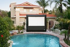 Open air cinema by the pool!