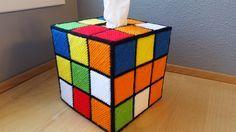 Rubik's Cube Tissue Box Cover Plastic Canvas Pattern