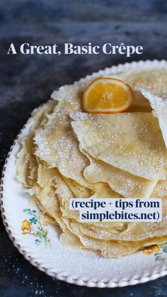 Best Breakfast Recipes, Sweet Breakfast, Homemade Crepes, French Crepes, Crepe Recipes, Evie, Food Hacks, Recipe Ideas, Food To Make