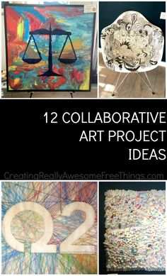 Diy Crafts : Illustration Description Collaborative art project ideas for kids and adults! Crafting is just…Fun! Art Auction Projects, Class Art Projects, Craft Projects For Adults, Group Projects, Collaborative Art Projects For Kids, Auction Ideas, Welding Projects, Art Therapy Activities, Therapy Ideas
