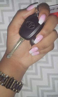 Nails by Rissy in Saint Lucia: French Ombre. Acrylic Only.