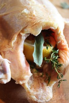 Ina Garten's Perfect Roast Chicken With A StoneGable Twist Perfect Roast Chicken, Rotisserie Chicken, Baked Chicken, Best Chicken Recipes, Great Recipes, Favorite Recipes, Different Recipes, I Foods, Cooking