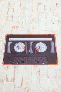 - Cassette Tape Floor Mat $39.00 - #music #cassette #interiors #decor #mat #rug #floormat #musicinteriors http://www.pinterest.com/TheHitman14/music-interiordecor-%2B/