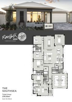 Visit the display homes in Hammond Park this week and view The Southsea from Ross North Homes. A one of a kind design featuring two homes in one. Modern House Plans, House Floor Plans, Grow Home, Bedroom House Plans, Display Homes, Estate Homes, My Dream Home, Building A House, Real Estate