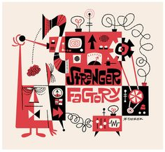 Stranger Factory Christian Marclay, Online Scrapbook, Vintage Illustration Art, Mid Century Art, Retro Art, Surreal Art, Retro Design, Illustrators, Character Design