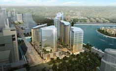 Dubai Waterfront, Marina Bay Sands, City, Building, Travel, Future Buildings, Viajes, Buildings, Cities