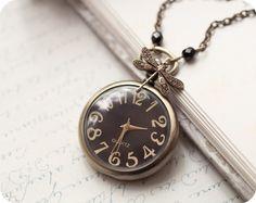 Antique Pocket Watch necklace - Steampunk style -