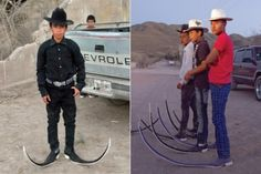 pointy shoes in texas... - (cowboy hat)