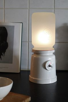 Our new jar lamp based on the WECK jar, in collaboration with Cor Unum ceramics.