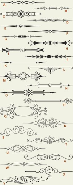Letterhead Fonts / LHF Engraver's Ornaments/ Old Fashioned Scrolls