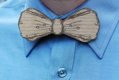 Un noeud papillon très original en bois! chez  Happy Chantilly