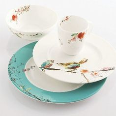 Lennox Chirp china pattern - this is what I have and I still love it!  I use the coffee mugs every day and they add a little sunshine to my morning.