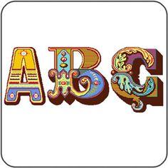 Felicity Hall's FREE amazing alphabet cross-stitch charts! SCOOOORE!!