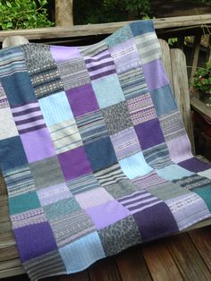 Gorgeous sweater blanket made from felted wool and cashmere sweaters. Love these colors!