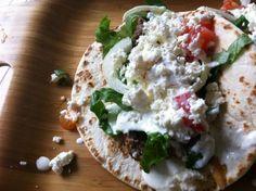 Ground Beef Gyros Greek Recipes, Pork Recipes, Real Food Recipes, Cooking Recipes, Healthy Recipes, Cooking Tips, Ground Beef Gyros Recipe, Oh Deer, Diet