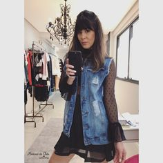 #lookdodia #moda #maxicolete #jeans #tendencia