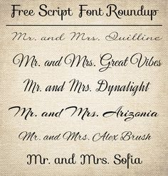CT-Designs Calligraphy and Wedding Stationery: Free Wedding Script Fonts: Latest Roundup