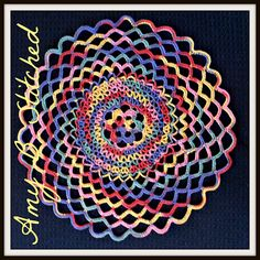Ravelry: Fiesta Swirls Doily pattern by Amy B Stitched