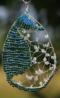 Angela Smith Jewellery - beaded wire seahorse