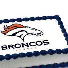 NFL Denver Broncos Edible Image Cake Decoration $10