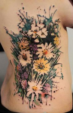 gene coffey tattoo. Soo cool! I want something done in watercolor style on me.