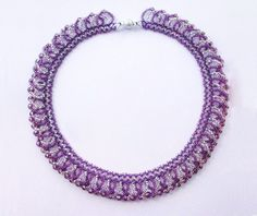 Free pattern for necklace Ireland - http://beadsmagic.com/?p=4194