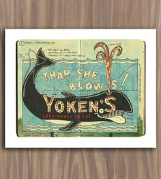 Whale Sketchbook Print | This colorful sketchbook illustration includes a full study of... | Posters