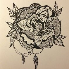 paisley rose tattoo - Google Search